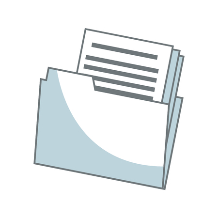 folder file document paper office archive vector illustration Illustration