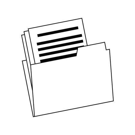 폴더 파일 문서 종이 사무실 아카이브 벡터 일러스트 레이션
