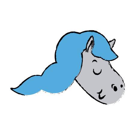 mythological character: Cute and beautiful pegasus horse fantasy vector illustration.