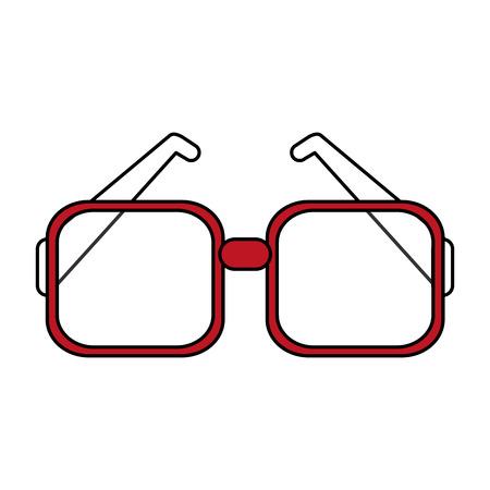 assortment: Flat line glasses over white background vector illustration