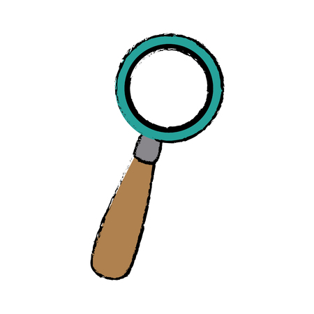 inspect: Magnifying glass magnifier or loupe icon vector illustration