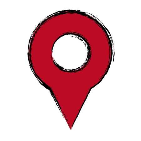 map pin icon direction gps element search vector illustration