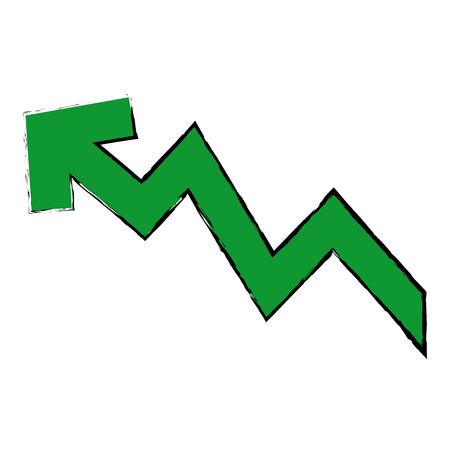 rising arrow increase price investment concept vector illustration Çizim