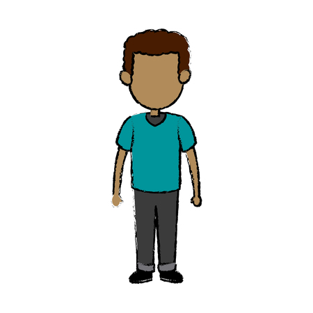 Father dad male member of family vector illustration Illustration