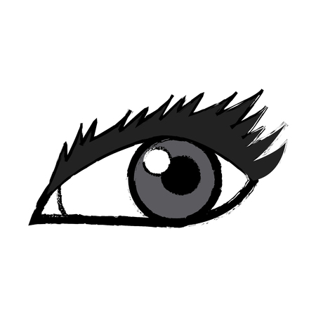 eye look watch vision optical icon vector illustration