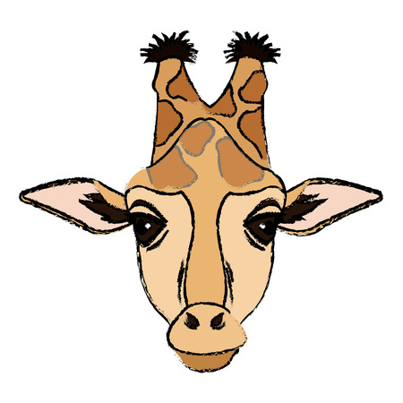 giraffa africano animale animale illustrazione vettoriale illustrazione