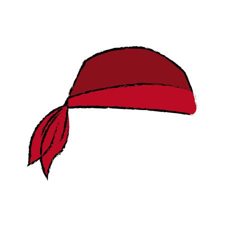 Piraat bandana hoofd kostuum accessoire vector illustratie Stock Illustratie