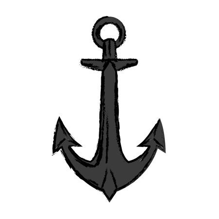 mercenary: pirates anchor ship mercenary image vector illustration