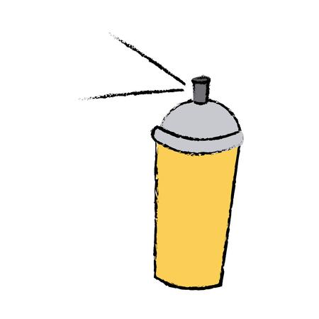 spray paint can graffiti tool icon vector illustration