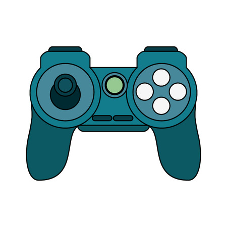 gamepad: Video game controller over white background vector illustration
