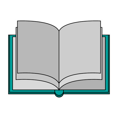 reader: Opened book over white background vector illustration