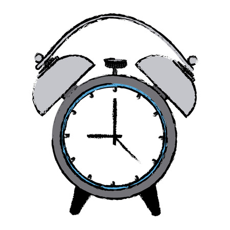alarm clock wake up time ring icon vector illustration