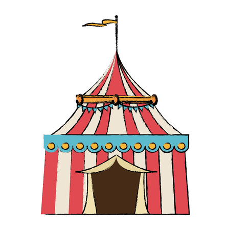 circus tent tops stripes flag on top vector illustration Illustration