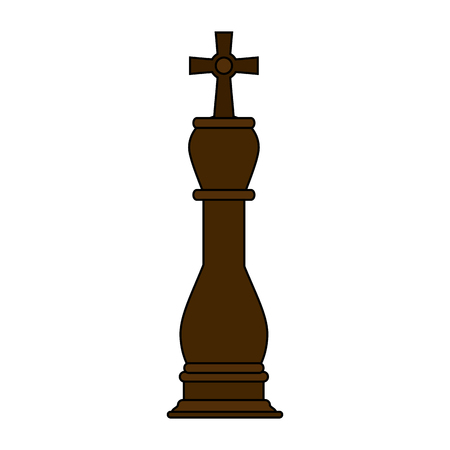 chess rook: King chess piece over white background vector illustration Illustration
