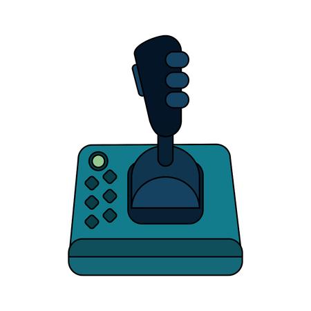 Videogame joystick over white background vector illustration Illustration