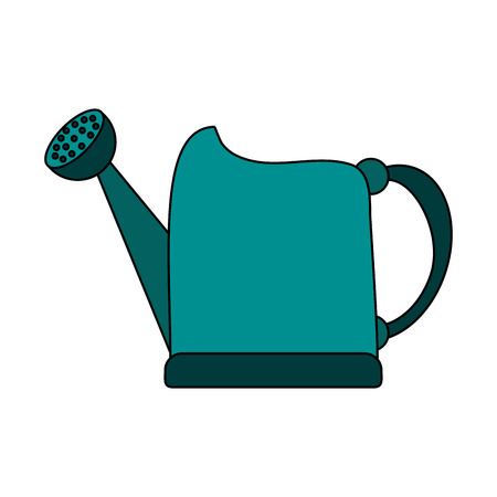 Watering can over white background vector illustration Çizim