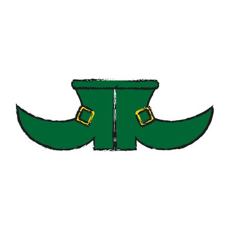 simple frame: leprechaun boots saint patricks day icon image vector illustration design