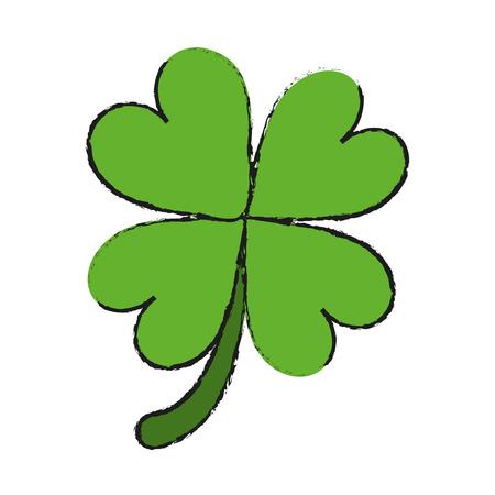 simple frame: clover or shamrock saint patricks day icon image vector illustration design Illustration