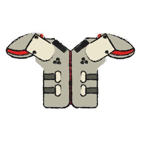 under armour american football icon image vector illustration design Vettoriali