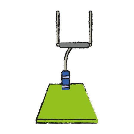 lacing: goal posts american football icon image vector illustration design