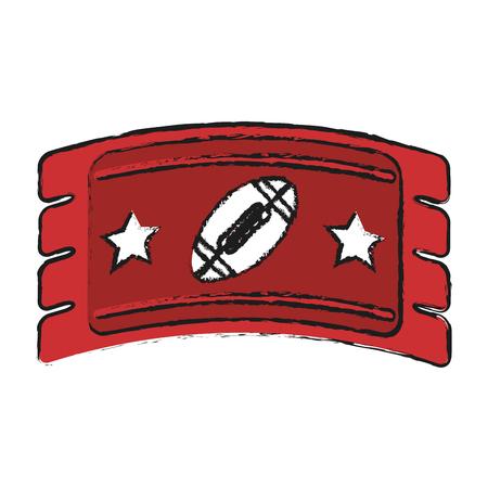 game ticket american football icon image vector illustration design
