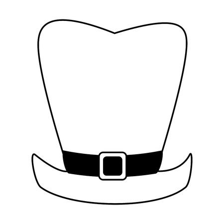 clover leaf shape: leprechaun hat saint patricks day icon image vector illustration design
