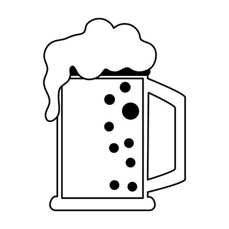 ale: glass of beer icon image vector illustration design Illustration