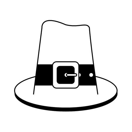 amish: vintage folk hat icon image vector illustration design