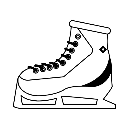 freeze: ice skate icon image vector illustration design
