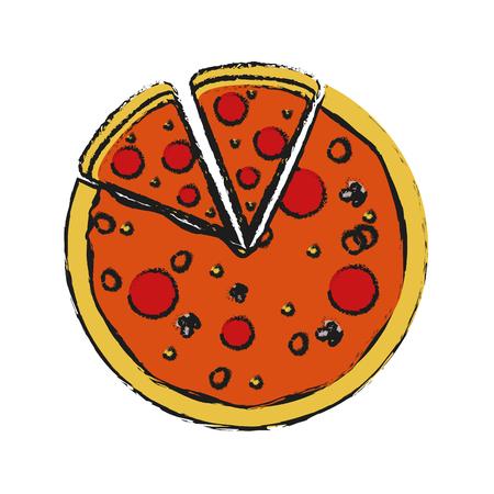 pizza fast food icon image vector illustration design Illustration