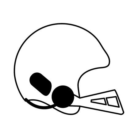 helmet american football icon image vector illustration design  black and white