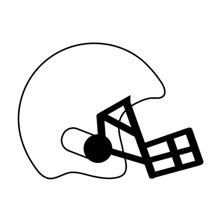 helmet american football icon image vector illustration design  black and white