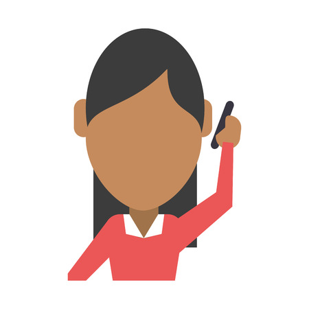 using smartphone: faceless woman using smartphone icon image vector illustration design Illustration
