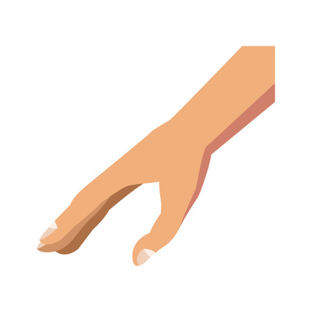 human hand gesture image design vector illustration