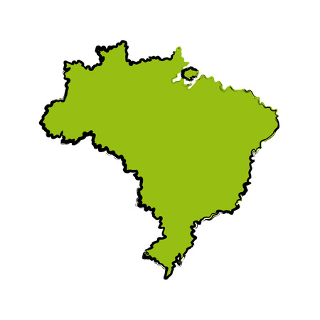 geographical: map of brazil cartography geography tourism travel vector illustration