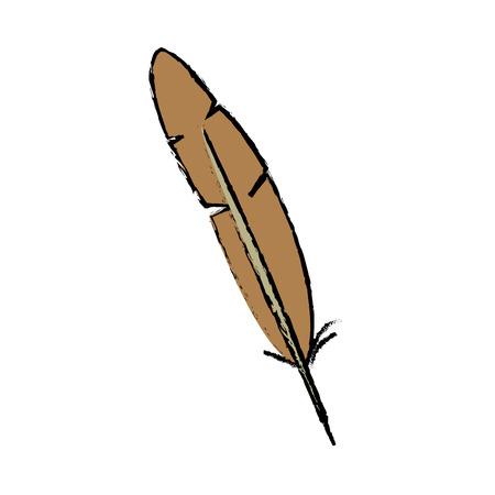 feather of hat oktoberfest decoration celebration vector illustration