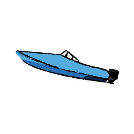 boat transport adventure expensive sport vector illustration Illustration
