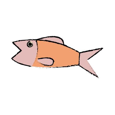 fish sea food fresh animal wild icon vector illustration