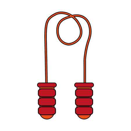 jump rope over white background vector illustration
