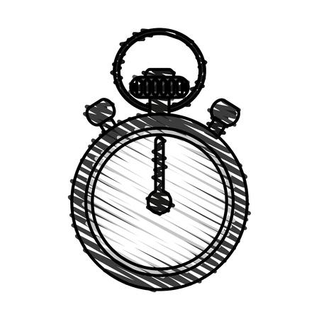 Stopwatch doodle over white background vector illustration Illustration