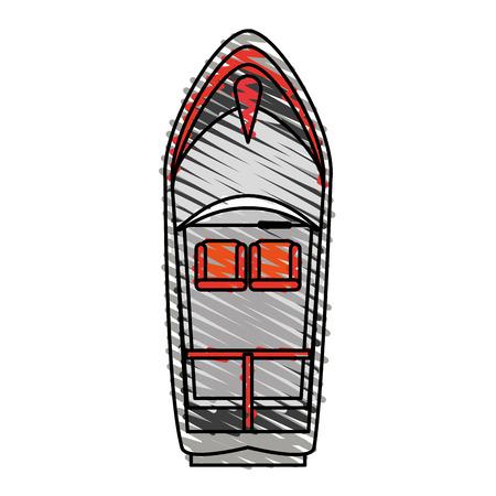 Bateau, doodle, sur, blanc, fond, vecteur, Illustration Banque d'images - 81006756