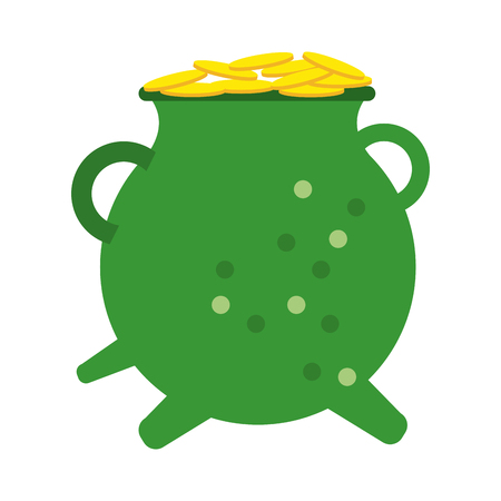 pot o gold st patricks day related icon image vector illustration design
