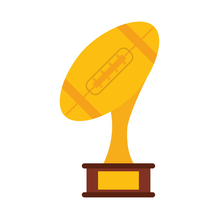ball shape trophy american football icon image vector illustration design Illustration