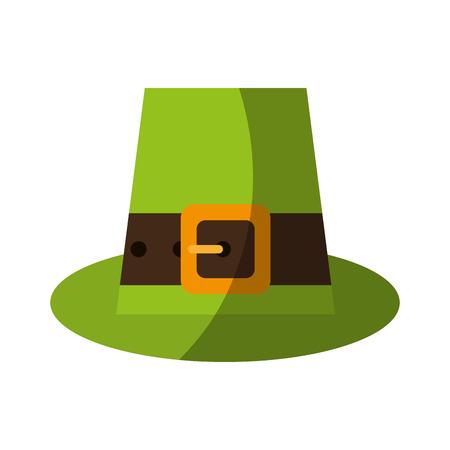 patrick's: leprechaun hat st patricks day related icon image vector illustration design