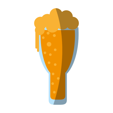 glass of beer icon image vector illustration design Illustration