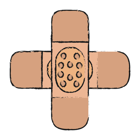 wound care: crossed adhesive bandages icon image vector illustration design