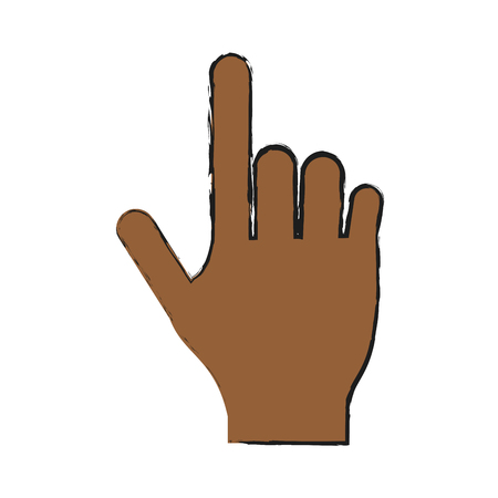 hand pointing with index finger  icon image vector illustration design Illustration