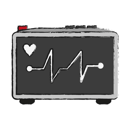 observation: heart electrocardiogram icon image vector illustration design Illustration