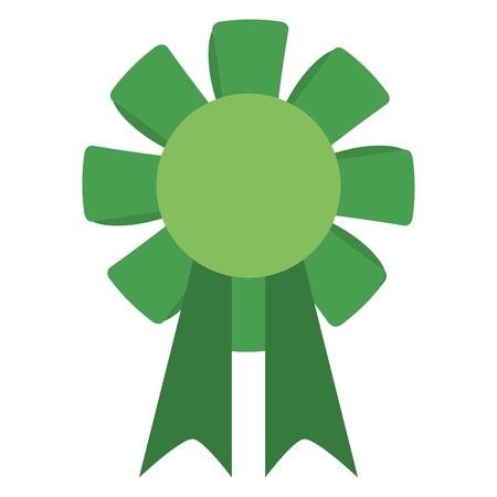 green winner badge icon image vector illustration design Illustration