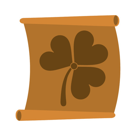 st  patrick's day: paper with clover or shamrock saint patricks day related icon image vector illustration design